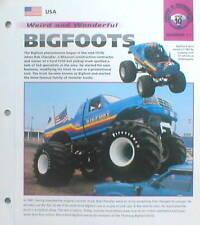 MONSTER TRUCK / TRUCK'S Brochure: Bigfoot, Hulkster, Fastrax,
