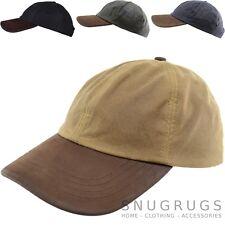 Herren/Herren 100% Wachs wasserfest Baseball Kappe/ Hut mit Lederschirm