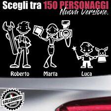 StickMan© 2.0 Bianchi e Neri Adesivi Famiglia Stickers Family per Mazda 2 3 5 6
