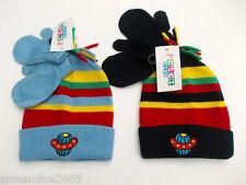 baby bambini invernale astronave cappello in nero striscia/righe blu 6-12 12-18m