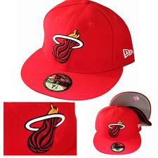 New Era NBA Miami Heats 5950 Red Fitted Hat Hardwood Classic Cap