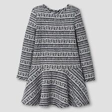 Girls' A Line Dress Ebony White Genuine Kids from OshKosh, Size 12M, 18M, 2T, 3T
