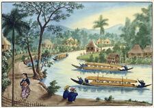 "JOSE HONORATO LOZANO ""View Near Taguig on Pasig River"" various SIZES, BRAND NEW"