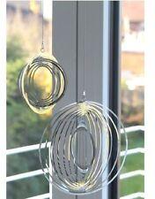 Casablanca Windspiel Fensterdeko silber rund metall Rings Deko Wohnen 3 D 52021