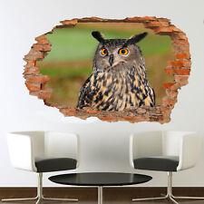 Vida silvestre europeo Eagle Búho Pegatinas de Pared 3D Decoración Habitación Oficina Tienda Mural de Arte VU4