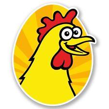 2 x Chicken Vinyl Sticker Laptop Travel Luggage #4624