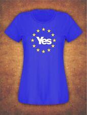Yes Scotland EU Remain Referendum  Scottish Independence T-shirt Female Royal B