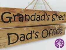 Reclaimed Pallet Wood Dad/Grandad Engraved Sign Gift