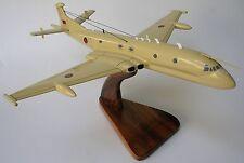 MR2 Nimrod British Royal RAF UK Airplane Desktop Kiln Dry Wood Model Small New