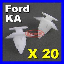 20 X FORD KA BUMPER CLIPS TRIM PLASTIC FIXING CLIPS FRONT REAR