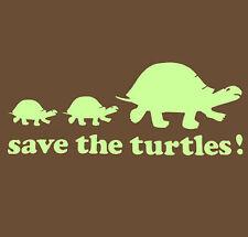 SAVE THE TURTLES screenprinted animal lover deep sea tortoise Hooded Sweatshirt