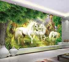 3D Forest Beautiful Unicorns 37 Wall Paper Wall Print Decal Wall AJ Wall Paper