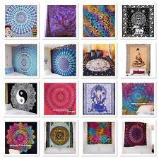 Indische Mandala Wand Bettwäsche Tagesdecke Hippie böhmischen Tapestry Single