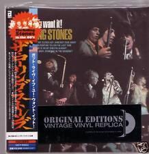 """ROLLING STONES """"got live if you..""""  Mini LP CD OBI"""