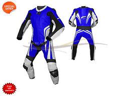 blu intero Pelle KIT MOTO DA CORSA Kit con SUPERIORE pelle di qualità OFFERTA