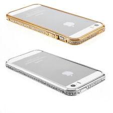 Apple iPhone 5 5s SE Schutz Hülle Bumper Case Tasche Back Cover in glitzer gold
