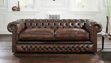 Chestefield Sofa Couch Leder Designer Textil Sitz Polster Garnitur Design 201817