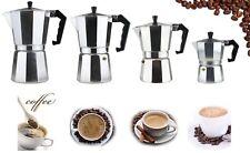 Coffee Maker 3/6/9/12 Cup Aluminum Stove Top Espresso Coffee Maker - Silver