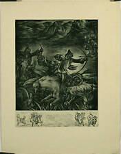 Gravure illustrant le voyage de Marco Polo, Cavaliers