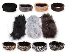 Ladies Faux Fur Fashion Headband Fleece Lined Womens Ski Earwarmers Ear Muffs