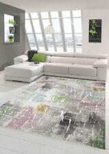 Tappeto moderno e design Tappeto corto per soggiorno viola beige verde blu