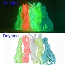1pair Sports Luminous Shoe Laces Glow In The Dark Color Fluorescent Shoelaces