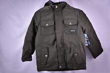 iXtreme Big Boys' fleece vested Wool blend Coat - OLIVE