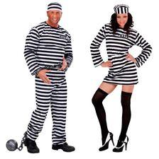 S3498 Damen-Kostüm Sträfling Gefangene Faschingskostüm Karneval Knast Gefängnis