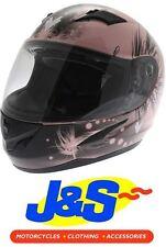 FRANK THOMAS FT36 PINK MOTORCYCLE HELMET LADIES MOTORBIKE LADIES PINK LID J&S