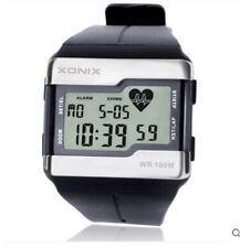 Xonix Mens Heart Rate Watch WR100M Multi function Sports BMI calories watch
