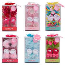 Newborn Infant Baby Gift Headband & Socks Set Baby Shower Birthday Gift Set