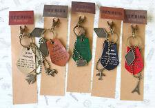 Vintage Style Keychain retro metal keyring Eiffel Bird cute purse bag charm gift