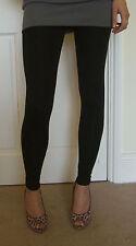 Ankle Length Leggings Viscose Elastane Black Size 20 22 24