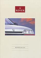 ROVER 216 GSI PROSPEKT 1990 vi90fr16 brochure auto auto prospetto opuscolo