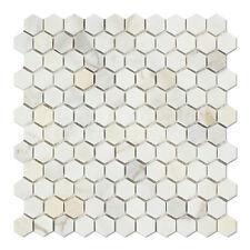 Calacatta Gold (Italian Calcutta) Marble 1 inch Hexagon Mosaic Tile