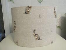 Handmade Oval Lampshade in Fryett Hartley Hare fabric 20 30 40 cm
