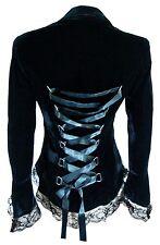 XS SM MD LG XL XXL - Black NEW Velvet Victorian Gothic Steampunk Corset Jacket