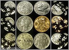 WORLD'S FINEST Jigsaw Puzzle US Coin Set - Dollar Half Quarter Dime Nickel Penny