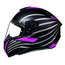 MT Targo Doppler Full Face Motorbike Motorcycle Helmet Matt Black Pink Crash