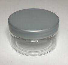 Empty 100ml Clear Plastic Jar With Silver Plastic Screw On Lid Quality Jar & Lid