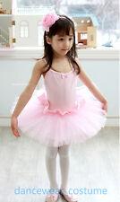 Neu Mädchen Kinder Ballett Tütü Ballettanzug Leotards Kleid Rock Ballet Tutu 3-8
