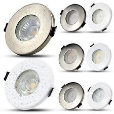 4X IP65 Spot Encastrable GU10 LED Encastré Plafonnier Plafond Salle de bain Lamp
