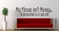 La mia casa... decorato dal mio... ANNI (scegli età) adesivi per Decalcomania Parete in Vinile