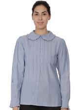 Plus Size Peter Pan Collar Chambray Blouse | Cotton Lane