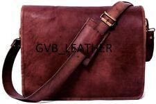 """Bull's 18"""" Leather Vintage Messenger Shoulder Bag Men Satchel Laptop Briefcase"""