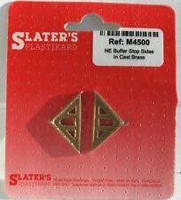 Slaters M4500 NE Buffer Stop Sides 2 Brass 00 Gauge New