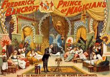 M44 Vintage Bancroft Prince Of Magicians Magic Theatre Poster A4