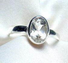 Bergkristall Ring 925 Sterling Silber fac. Edelstein filigran Gr. 50 - 71 neu