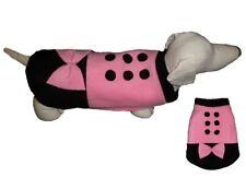 Dog Jumper Black and pink  FLEECE Sweater Pullover Coat Vest XXS- XL Arctic