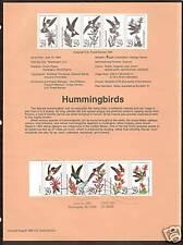 #2646a HUMMINGBIRDS 1992 Official Souvenir Page
